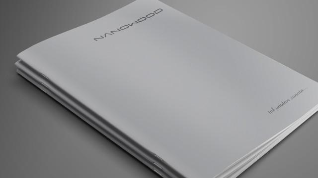 """Hammadde ve kullanım alanları, Nanowood """"Katalog Tasarımı"""""""