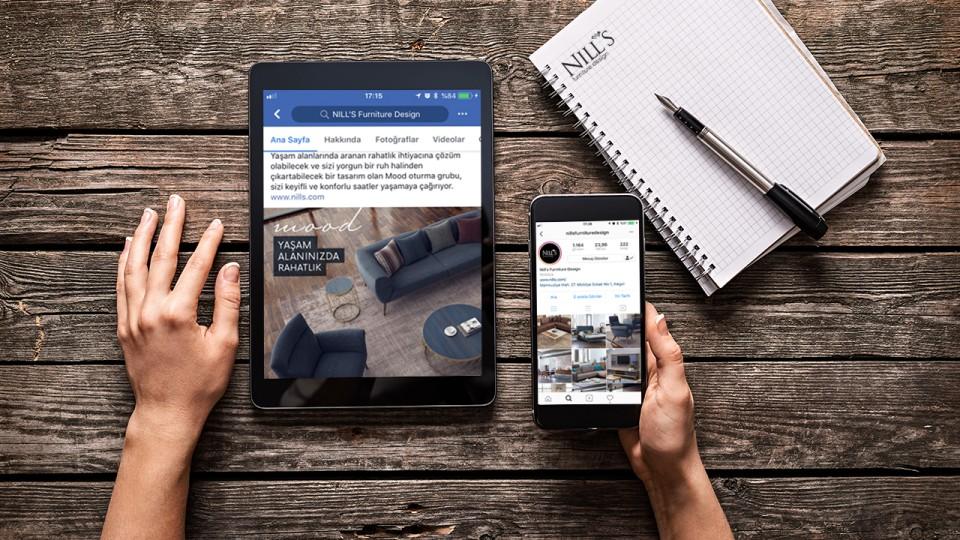 """Nill's Mobilya """"Facebook/Instagram"""" sayfa yönetimi Kuzey Işıkları'nda"""