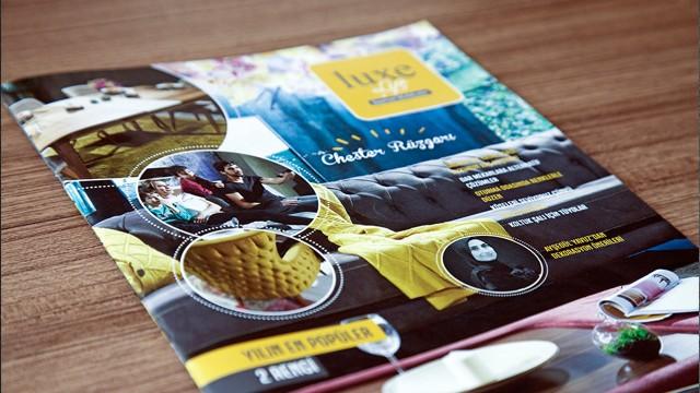 """Luxe Life mağazaları için hazırlanan ve 25.000 adet basımı yapılan """"Dergi Çalışması"""""""