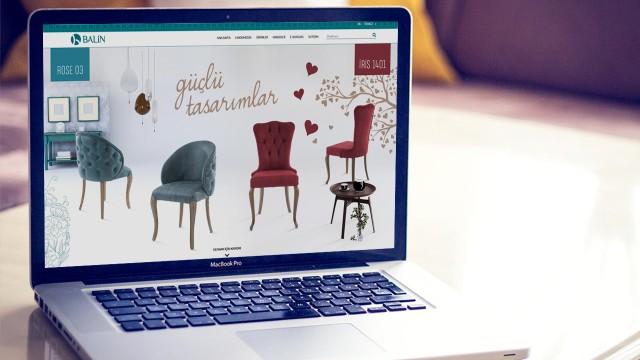 """Yeni konsept sunumları ile """"Balin Sandalye"""" internet sayfası tasarımı"""