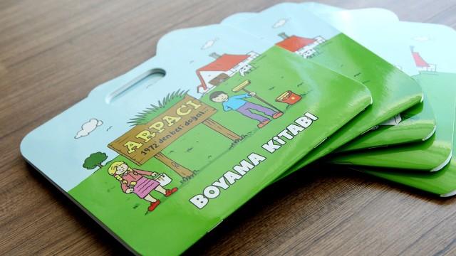 """Arpacı süt ürünlerini çocuklara sevdirmek için çizdik ve """"Boyama Kitabı"""" tasarladık"""