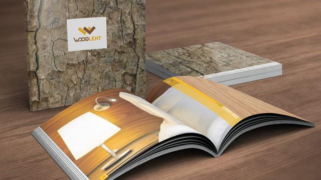 """Katalog çalışması yaptığımız """"Woodlent"""" ürün sunumu"""