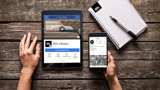 İDOL Mobilya, sosyal medya hesap yönetimini sağlıyoruz.